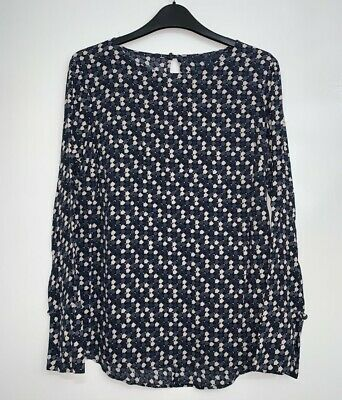 £11.99 • Buy Womens NEXT Blouse Long Sleeve Printed Blouse Work Party Top Tunic RRP £25 BR327