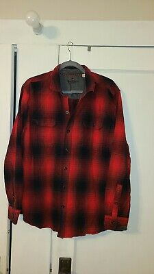 $17.50 • Buy Woolrich Mens Size XXL Long Sleeve Plaid Button Up Flannel Shirt Red Amd Black