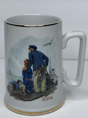 $ CDN13.78 • Buy Norman Rockwell Vintage 1985 Collectible Coffee Mug Cup Looking Out To Sea
