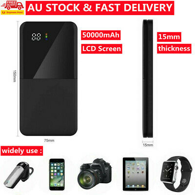 AU28.99 • Buy AU 500000mAh Portable Power Bank Charger With LCD 2USB External Battery Pack