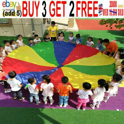 £9.99 • Buy 2M Kids Play Parachute Children Rainbow Large Outdoor Game Exercise Sport Toy *A