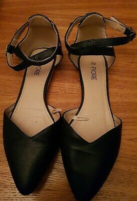 £2.20 • Buy Ladies Black Fiore Flat Shoes With Heel Support. Size UK5.