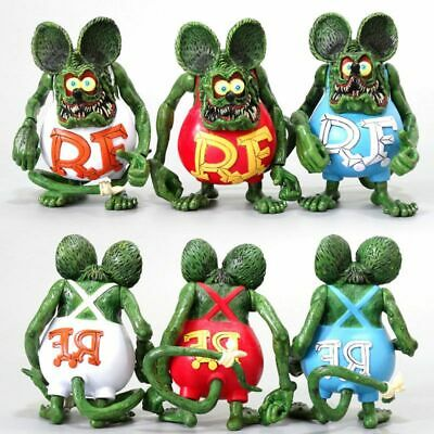 £11.98 • Buy Rat Fink PVC Action Figure Collection Model Toy Doll Cake Topper Kids Xmas Gift
