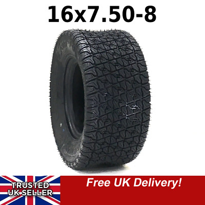 """£25.99 • Buy NEW Armstrong Tyre 16x7.50-8 ,4 Ply, Rim 8"""",Golf Lawn Mower Tractor Stens"""