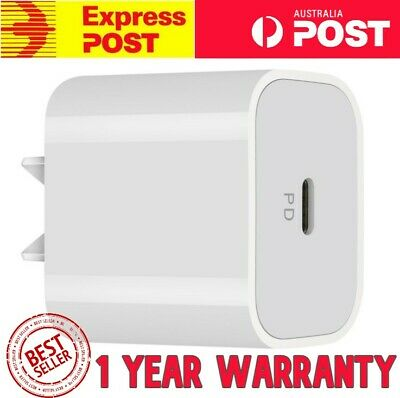 AU5.99 • Buy PD USB C Fast Wall Charger Power Adapter Plug Cable Fits IPhone 12 IPad Samsung