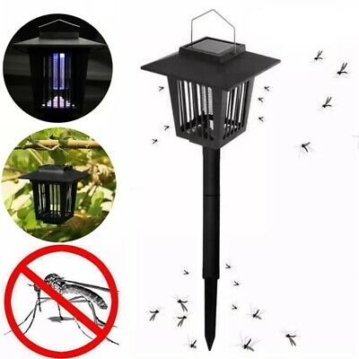 £10.96 • Buy Solar Powered Outdoor Mosquito Fly Bug Insect Zapper Killer Trap Lamp