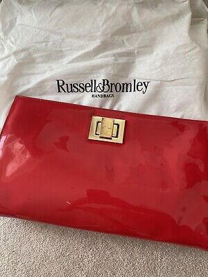 £12 • Buy Women's Russell And Bromley Red Patent Clutch Bag