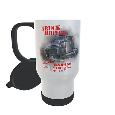 £9.99 • Buy Truckers Thermal Travel Mug Badass Truck Driver Lorry Cab Accessories Gift Ideas