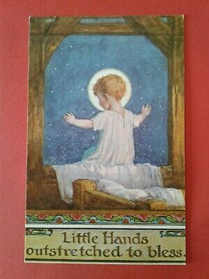 £2.99 • Buy Margaret Tarrant Postcard - LITTLE HANDS OUTSTRETCHED TO BLESS - MEDICI SOCIETY