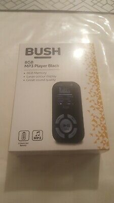 £10 • Buy *NEW UNOPENED*Bush 8GB MP3 Player With Display - Black (284/2448)