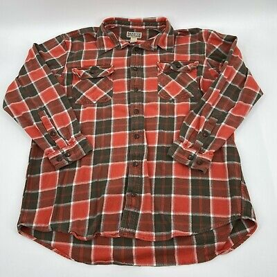 $22.95 • Buy Duluth Trading Men's Long Sleeve Button Front Plaid Shirt Size 2XLT Tall Thick