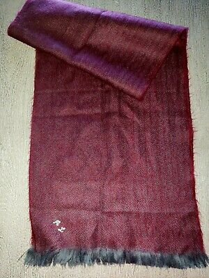$4.95 • Buy Mens BURGUNDY GRAY WINTER SCARF 52 INCH LONG 12 WIDE Initials ML Cashmere Finish