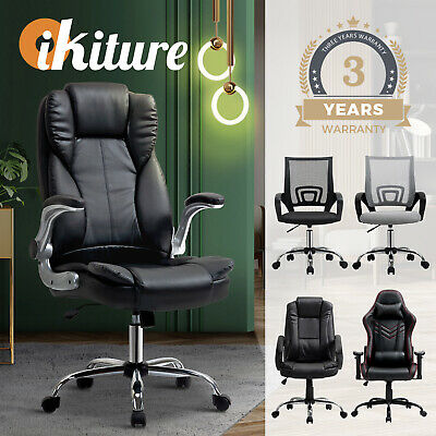 AU159.90 • Buy Oikiture Office Chair Gaming Executive Computer Chairs Racing Seat Recliner