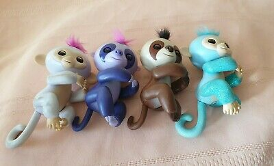 AU68 • Buy 4xVintage Toy Fingerlings -interactive Baby Monkey Very Cute All Worked 2000s