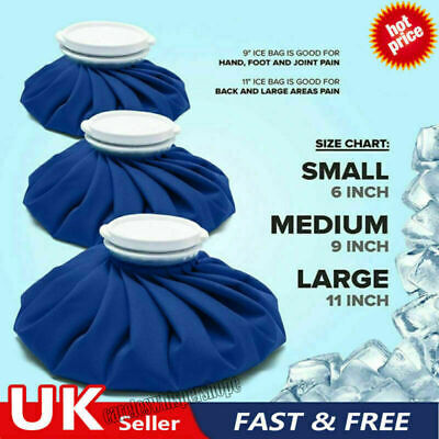 £5.34 • Buy Ice Bag Pain Relief Heat Pack Sports Injury Reusable For Knee Head Leg Reusable