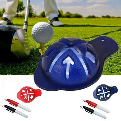 £3.24 • Buy Stencil Golf Ball Marker Tool With Pen Line Plastic Durable High Quality
