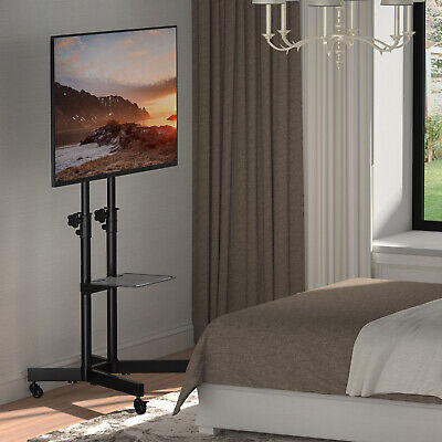£65.99 • Buy Mobile TV Stand On Wheels For 32-70 Inch Televisions TV Trolley Up To 50kg