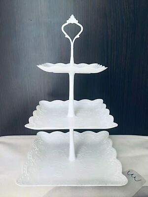 £5.85 • Buy 3 Tier Cake Stand Afternoon Tea Wedding Party Plates Tableware