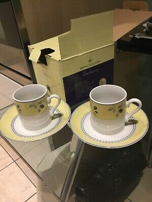 £6.50 • Buy Royal Doulton Blueberry 2 Demi Cups And Saucers , Boxed, SALE,SALE