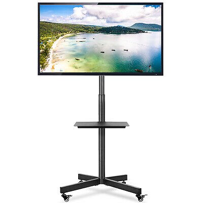 £58.99 • Buy Mobile TV Stand On Wheels For 27-60 Inch Rolling TV Cart Trolly Holds 25kg