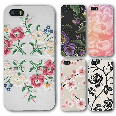 £6.95 • Buy For IPhone 5 5s Silicone Case Cover Flower Group 17