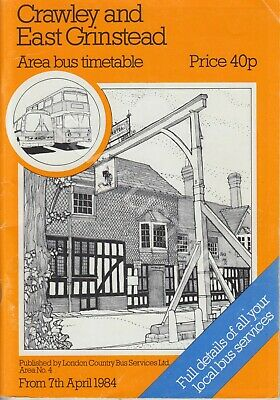 £1.59 • Buy Original London Country Bus Timetable  For Crawley & East Grinstead - Apr1984