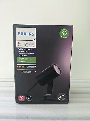 AU59.37 • Buy Philips Hue White And Color Ambiance Outdoor Spot Light - Lily Single -New-