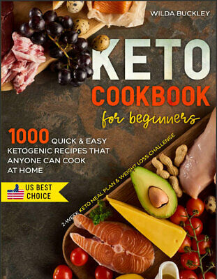 $2.22 • Buy KETO COOKBOOK FOR BEGINNERS  1000 Quick & Easy Ketogenic Recipes That Anyone*