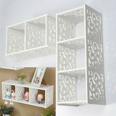 £10.69 • Buy Cube WPC Wooden Wall Cube Floating Shelf Display Storage Unit Cubes Shelve White