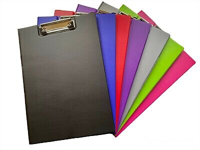 £3.09 • Buy Foldover PVC A4 Clipboards - Various Bright Colours And Sizes
