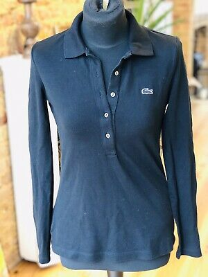 £15 • Buy Lacoste Cotton Polo Shirt For Women Size 8 /10 UK Slim Fit