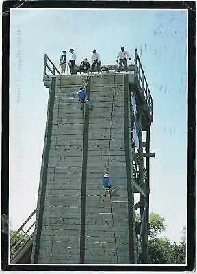 $4.01 • Buy Military Postcard Recruits Rappel From A Training Tower Large Card 5  X 7