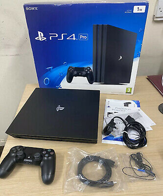 AU302.70 • Buy Boxed Sony Playstation 4 Pro 1TB Game Console - 1TB - Jet Black (CUH-7016B) PS4