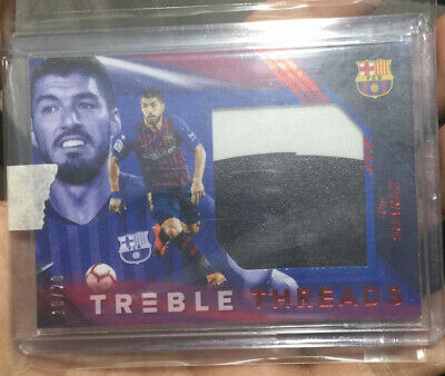 £250 • Buy Luis Suarez Treble Threads Panini Soccer Card Number 10/20 Relic Patch Fc Barca