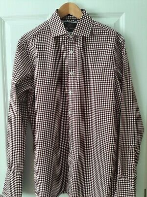 £7.99 • Buy M&S Mens 'sartorial' Red & White Shirt Size 16