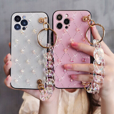 AU13.54 • Buy Cute Bling Crystal Diamond Case W/ Strap For IPhone 12 Pro Max XS 11 8 7 6 XR