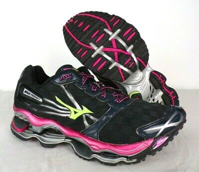 $ CDN1255.74 • Buy Mizuno Wave Prophecy Running Shoes Womens Size 9 Black Pink Green Dynamotion Fit