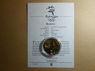 £4.99 • Buy $5 Australia Coin 2000 Sydney Olympic Games Frosted Finish & C O E R0WING