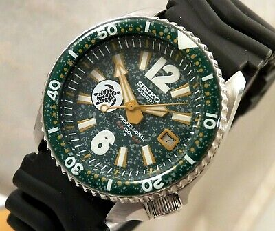 $ CDN269.02 • Buy Seiko Ceramic Spackled Green Turtle  Automatic Divers Date Watch Custom Mod 7002