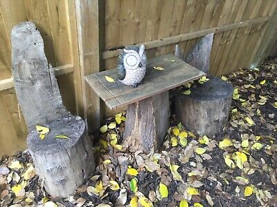 £45 • Buy Log Furniture Garden Table And Chairs