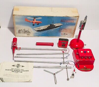 £71.67 • Buy Vintage 1950's Nulli Secundus Remote Control Helicopter Set 3 Speed British Made
