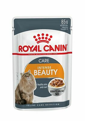 £14.89 • Buy Royal Canin Intense Beauty Care In Gravy Adult Wet Cat Food Pouches - 12 X 85g