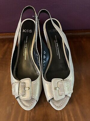 """£4.99 • Buy Gorgeous """" Kennel Und Schmenger"""" Dull Gold Leather Size 6/39 Shoes"""