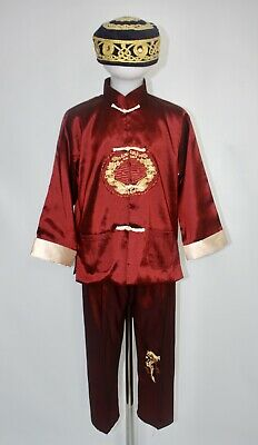 £19.99 • Buy Boys Chinese Costume Dragon Tang Dynasty Red Fancy Dress Tai Chi Age 6-7