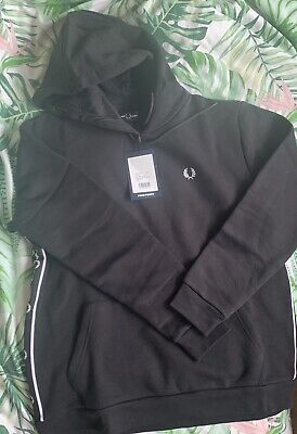 £34.99 • Buy Black Fred Perry Hoodie Womens Size 10