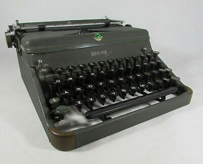 £59.95 • Buy Vintage 1951 Hermes 2000 Typewriter Swiss Made Fitted With New Ribbon Fitted