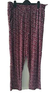 £2.30 • Buy Size 18 Soft Patterned Baggy Summer Autumn Trousers Wine Mix NEWLOOK CURVES *NWT