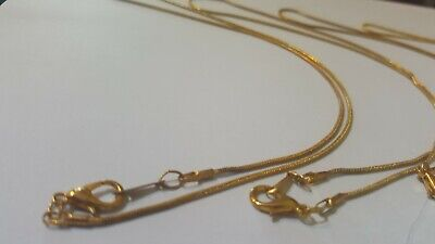 £3.40 • Buy 5 X Rose Gold Plated Satellite Snake Chains 16  40cm Jewellery Necklace Making