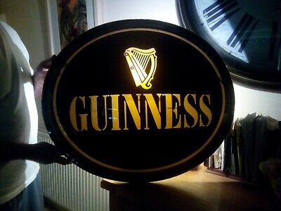 £30 • Buy Guinness Large Domed Outdoor Light/Sign. Front.