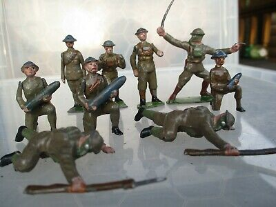£0.99 • Buy  Vintage Hollow Cast British Soldiers Some With Shells Nice Mixed Lot